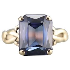 Bold Lines, Vintage Synthetic Alexandrite Ring