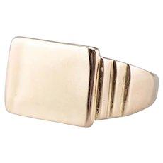Unisex 18 Karat Gold Signet Ring