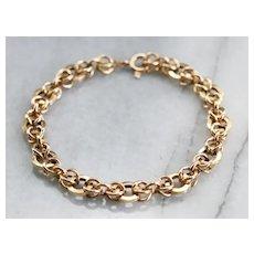 Fancy Triple Round Link Bracelet