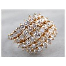 Sparkling Vintage Diamond Cluster Ring