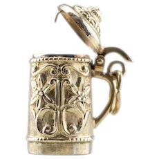 Vintage Beer Stein Charm Pendant