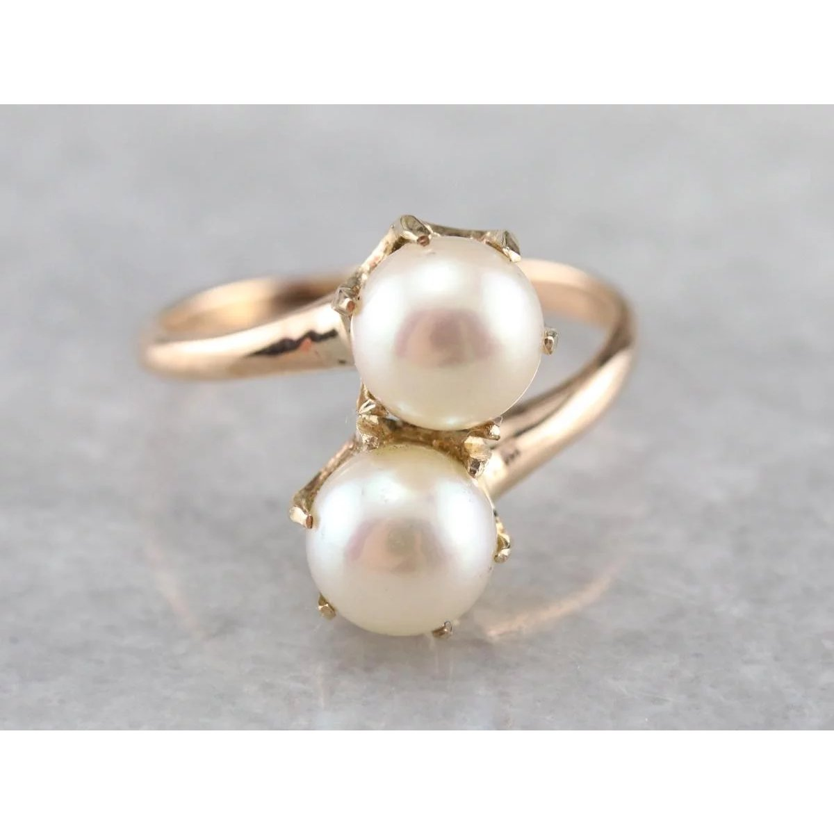 Chocolate Pearl Double Bypass Ring
