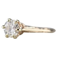 Art Nouveau European Cut Diamond Ring