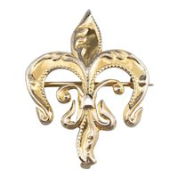 Victorian Fleur De Lis Brooch or Pendant