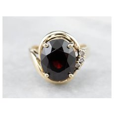 Vintage Garnet and Diamond Bypass Ring