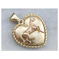 Sweet Heart Horse Pendant