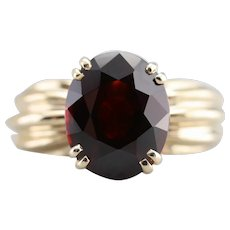 1980s Garnet Cocktail Ring