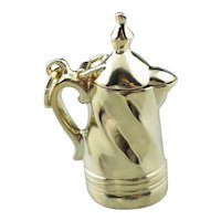 Large French Press Charm Pendant
