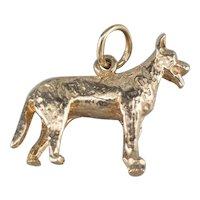14K German Shepherd Dog Charm