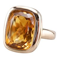 Bulky Citrine Cocktail Ring