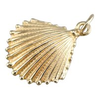 Vintage Scallop Shell Charm Pendant