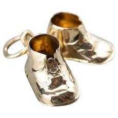 Vintage 14 Karat Gold Baby Shoes Charm