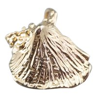 Vintage Conch Shell Charm or Pendant