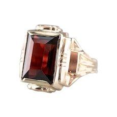 Men's Bold Garnet Ring