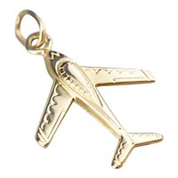 Vintage Airplane Charm or Pendant