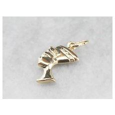 14K Nefertiti Charm or Pendant