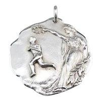 1909 Sterling Silver Runner's Medal Pendant