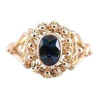 Ornate Filigree Sapphire Ring