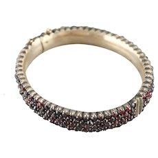 Antique Rose Cut Garnet Bracelet