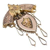 Victorian Ornate Chandelier Brooch