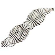 Intricate Sterling Silver Link Bracelet