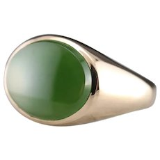Upcycled Men's Jade Statement Ring