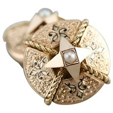 Victorian Cultured Seed Pearl Cufflinks