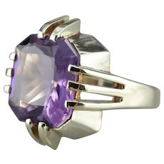 Upcycled Amethyst Statement Ring
