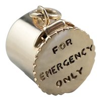 For Emergency Only 14 Karat Gold Charm
