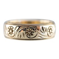 Mid Century Floral Pattern Band