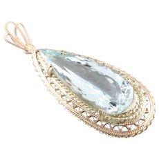 Collectors Quality Aquamarine Pendant