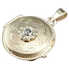 Upcycled Diamond Floral Locket