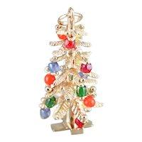 Multi Colored Glass Bead Christmas Tree Charm
