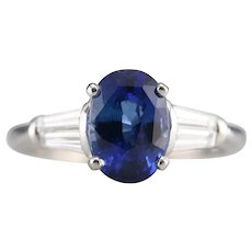 Stunning Sapphire and Diamond Upcycled Ring
