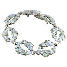 Floral Margot De Taxco Enamel Bracelet