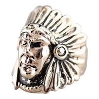 Native American Chief Statement Ring