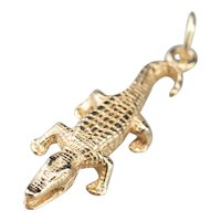 Yellow 14 Karat Gold Crocodile Charm