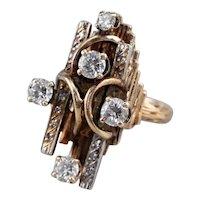 Bold Diamond Statement Ring