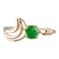 Modernist Green Garnet Ring