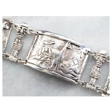 Peruvian Llama Panel Link Bracelet