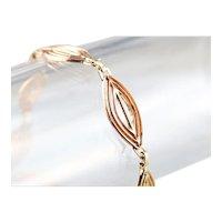 Retro Era Marquise Link Bracelet