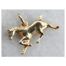 Unisex Trotting Horse Charm Pendant