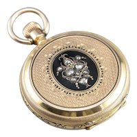 Victorian Era Rose Cut Diamond John Olivier Pocket Watch