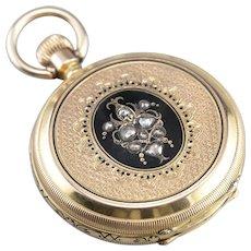 Victorian Era Rose Cut Diamond John Olivier Pocket Watch