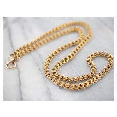 Ornate Antique 14 karat Gold Chain Necklace
