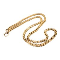 Ornate Antique 14 karat Gold Chain Necklace