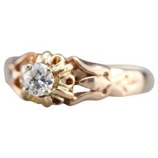 Lovely Upcycled Diamond Solitaire Ring