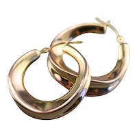 Ribbon Twist Hoop Earrings
