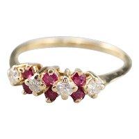 Vintage Diamond and Ruby Band