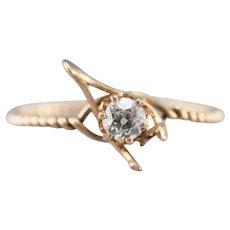 Antique Old Mine Cut Diamond Wishbone Ring